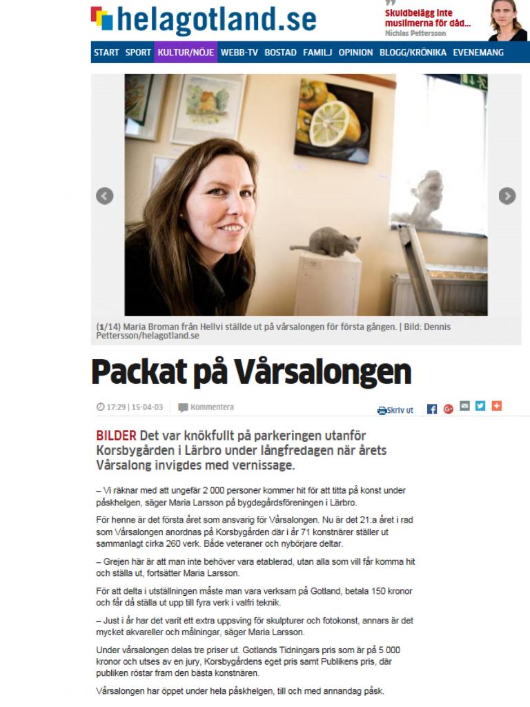 Gotlands Tidningar/Hela Gotland.se 3-4 april 2015