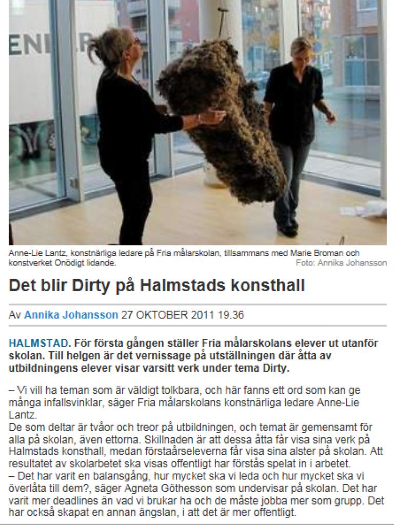 Laholms Tidning 27/28 oktober 2011