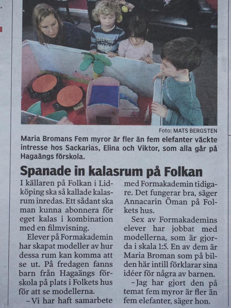 NLT Nya Lidköpings-Tidningen 10 Februari 2014 Fem myror är fler än fyra elefanter, ska det vara! Journalisten har skrivit fel i artikeln,